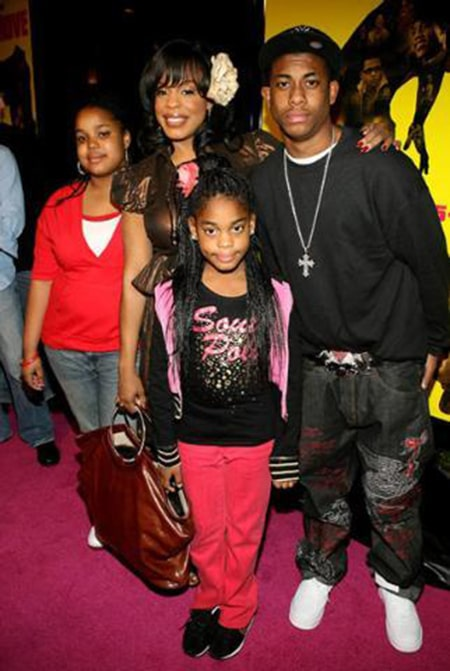 Niecy Nash and her three children she shares with her first husband Don Nash