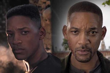 Will Smith and CG Will Smith