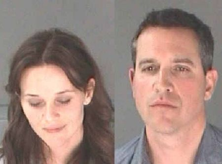 Mugshot of Reese and Jim after they were arrested for driving under influenceImage Source: E News