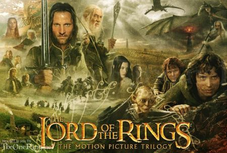 Poster for the Lord of the Rings trilogy