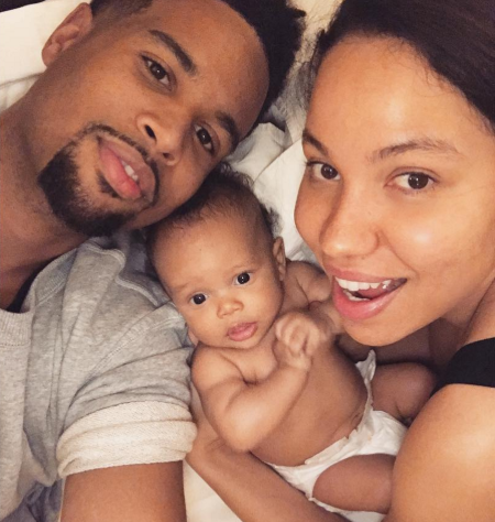 Jurnee with husband Josiah Bell and their son Hunter Zion