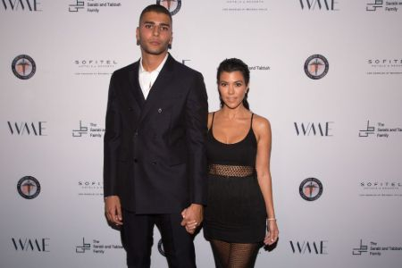 Younes Bendjima with Kourtney Kardashian