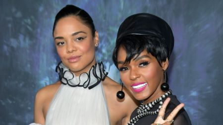 Tessa Thompson with Janelle Monáe