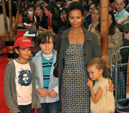 Actress Thandie Newton with her three children