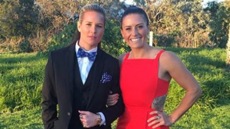 Ali Kriger and Ashlyn Harris-from the photo Harris shared on New Year 2015