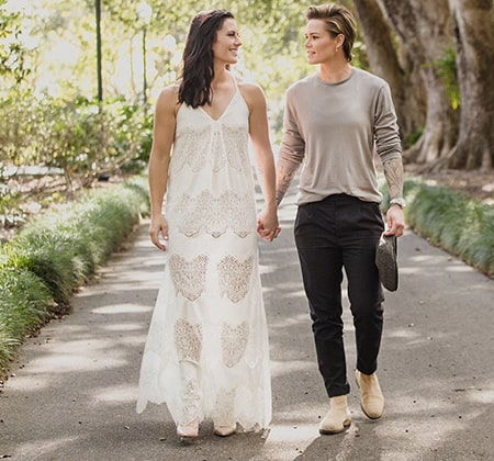 Soccer players Ali Krieger and Ashlyn Harrig got married