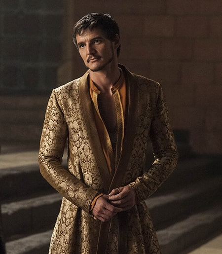 Actor Pedro Pascal as GOT character Prince Oberyn Martell