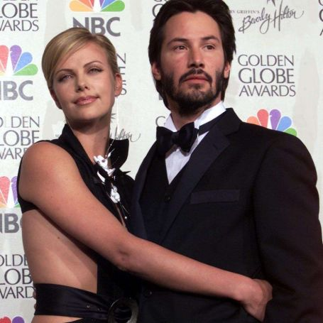 Keanu Reeves and Charlize Theron