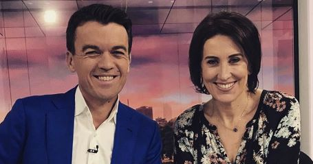 Virginia Trioli and her co-host of New Breakfast show, Michael Rowland