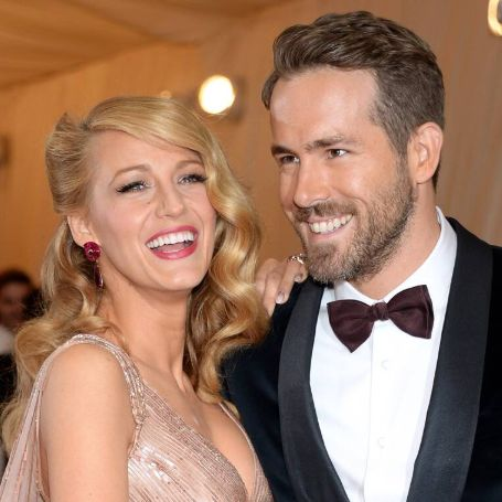 Ryan Reynold with his wife Blake Lively