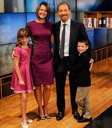 Chuck Todd and his family