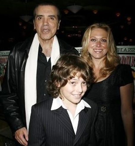 Chazz Palminteri with his wife and son