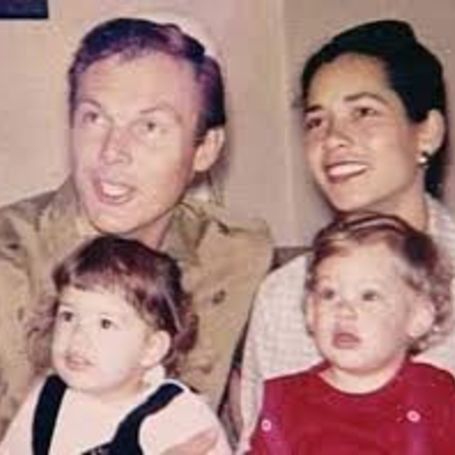Adam West with Ngatokorua Frisbie and two children