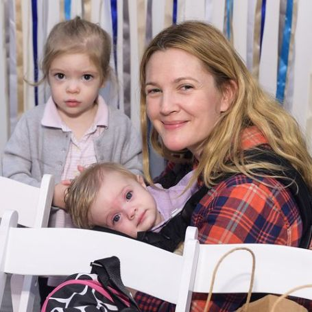 Drew Barrymore and her two children