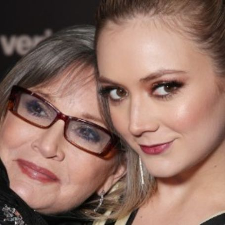 Carrie Fisher and her daughter