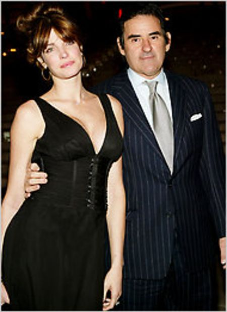 Stephanie Seymour with Peter Brant .
