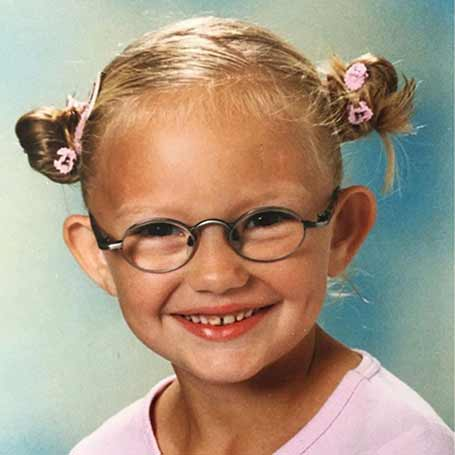Romee Strijd when she was a child.