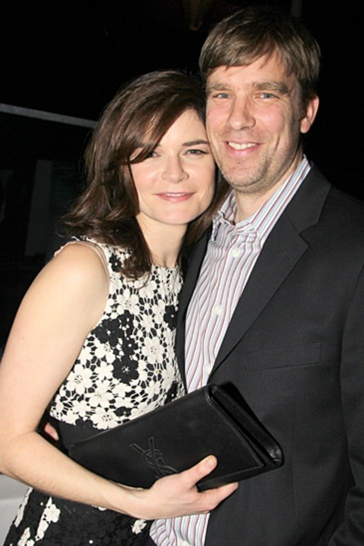 Betsy Brandt with her husband Grady Olson