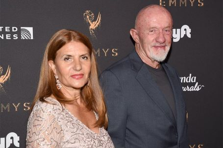 Jonathan Banks and his wife at Emmys Award Show