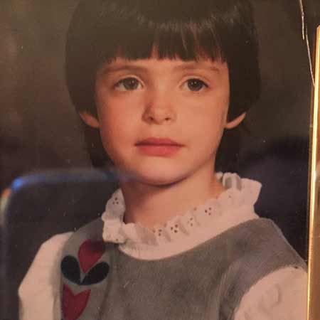 Krysten Ritter when she was a child.