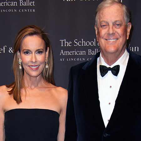 David Koch with his wife, Julia Flesher.
