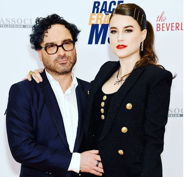 Johnny Galecki with his girlfriend, Alaina Meyers.