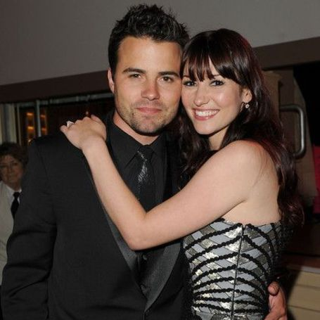 Chyler Leigh and her husband Nathan West.