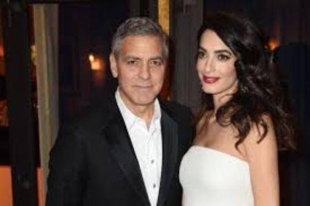 George Clooney with Amal Alamuddin