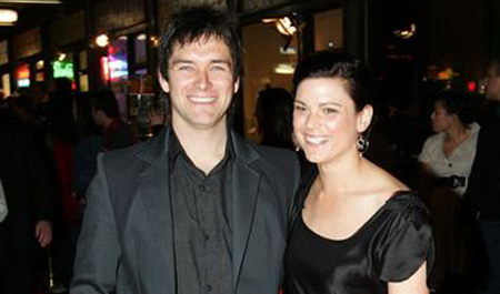 Antony Starr and his partner Lucy McLay at Qantas New Zealand Television Awards 2008