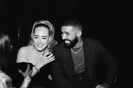 A slimmer Adele partying with Drake