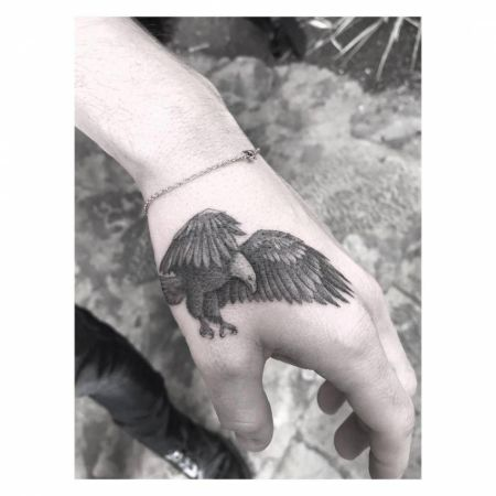 The eagle tattoo on Buster's hand was a risky move