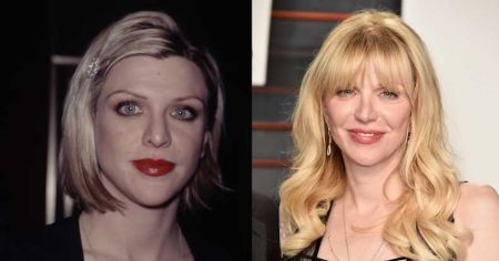Before and After snaps of Courtney Love following her nose job