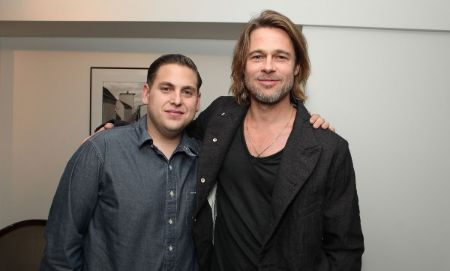 Jonah Hill with Moneyball co-star Brad Pitt