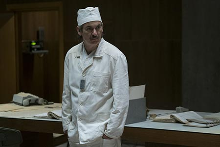 Actor Paul Ritter's Chernobyl character, Anatoly Dyatlov