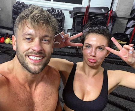Alexandra Cane and her personal trainer, Adam