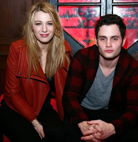 Penn Badgley and his ex-girlfriend and actress Blake Lively