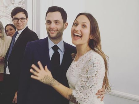 Penn Badgley and Domino Kirke married in a private courthouse wedding in Brooklyn