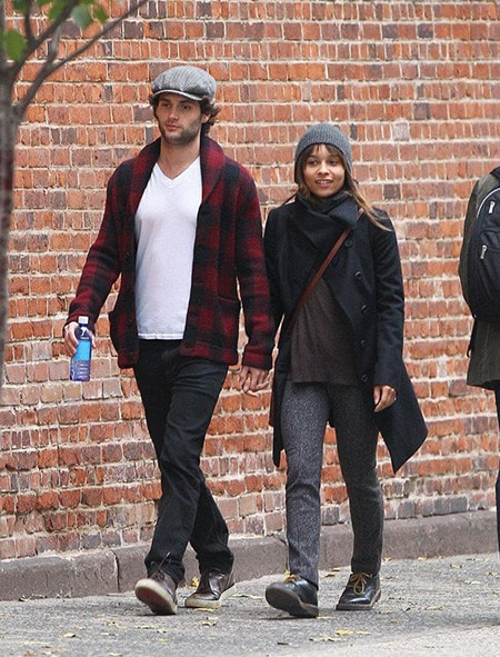 Actor Penn Badgley dated Zoe Kravitz from 2011 to 2013