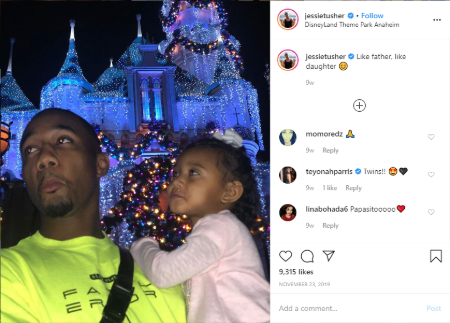 Usher sharing quality time with his daughter