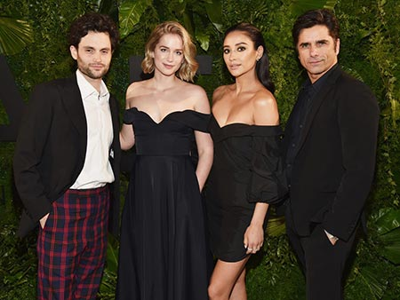 Actor Penn Badgley and his You cast