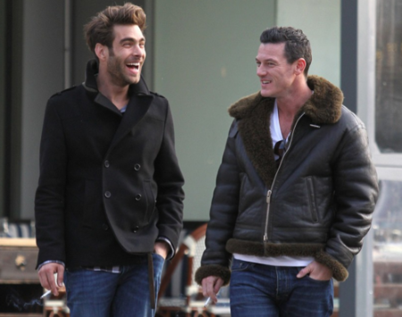 Jon Kortajarena out and about with Luke Evans