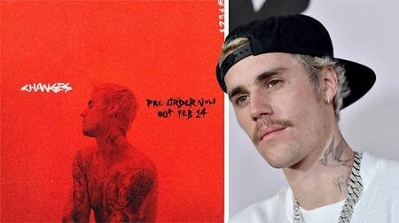 "Bieber fifth album is titled ""Changes"" which is set to be released on 14th Feb"