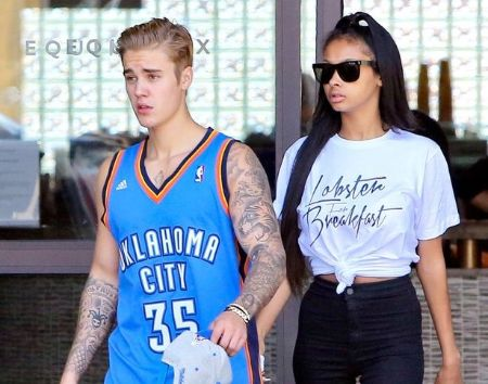 Justin Bieber with Jayde Pierce