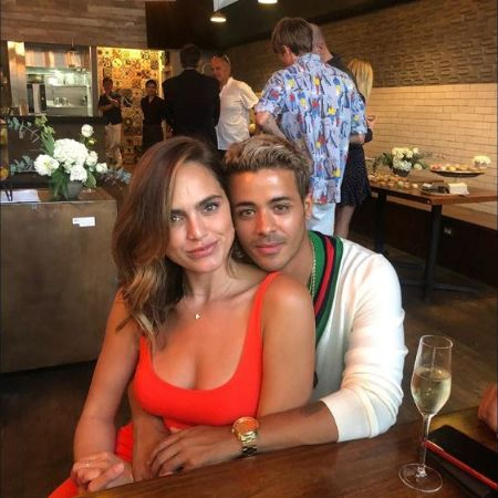 Kass Ramirez and Christian Navarro together at a restaurant