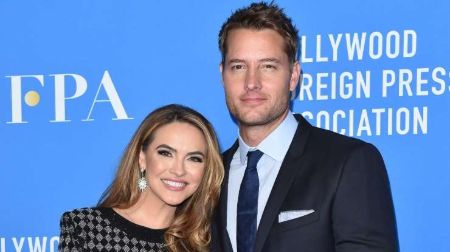 Justin Hartley with ex-wife, Chrishell Stause