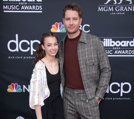 Justin Hartley with daughter, Isabella