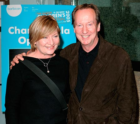 Actor Bill Paterson and his wife Hildegard Bechtler
