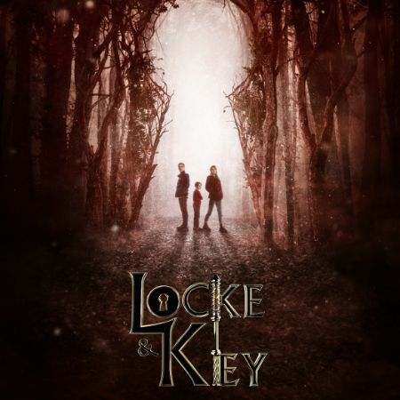 A poster for Locke And Key showing the 3 kids