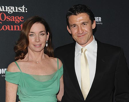 Actress Julianne Nicholson and husband Jonathan Cake at the Los Angeles Premiere of 'August: Osage County'