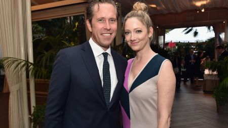Judy Greer with husband, Dean E. Johnsen